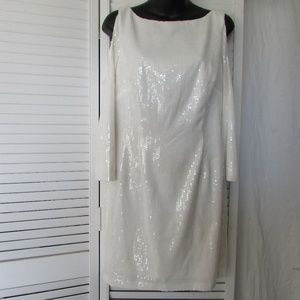 JS collection white sequin dress size 10